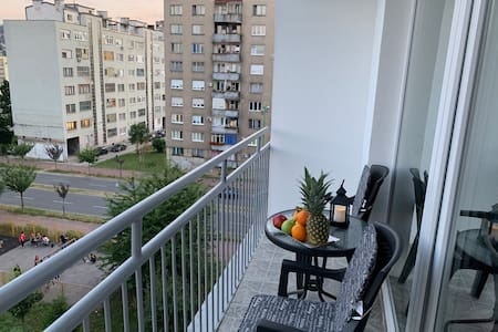 Modern private apartment, beautiful balcony view