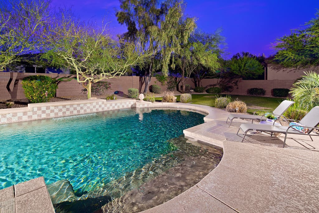 Relax in your private heated lap pool.