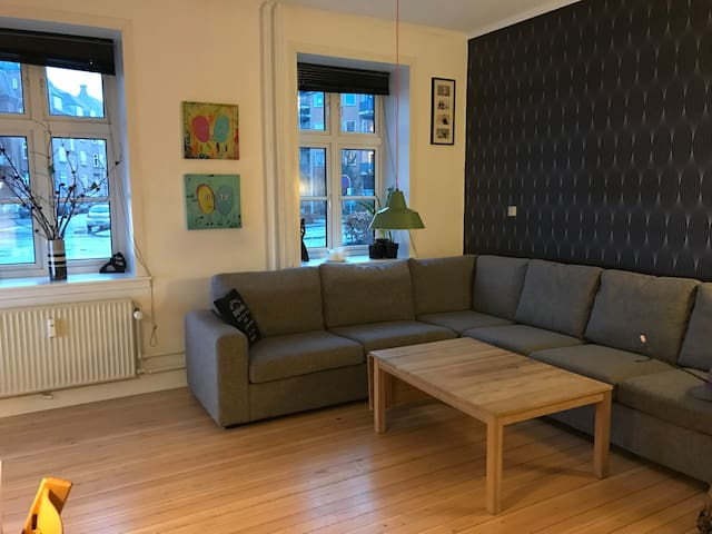 3 room apartment 95 m2 in center of Århus - 阿爾路斯 - 公寓