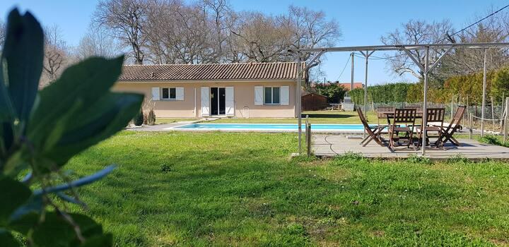 Belle maison standing avec piscine 6 pers