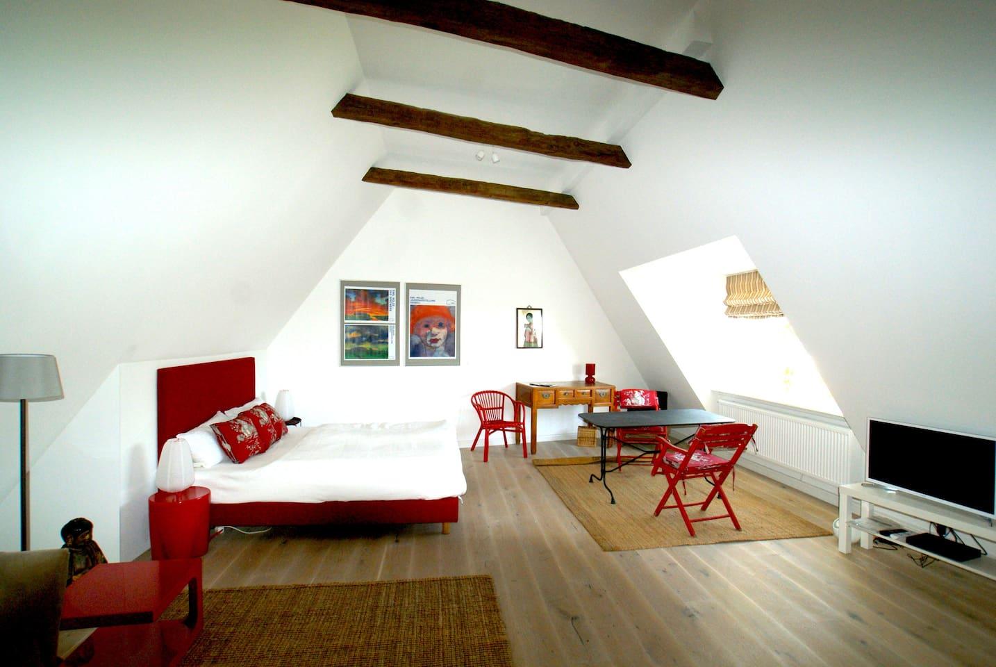 Gemütliche Einzimmerwohnung im Dachgeschoss