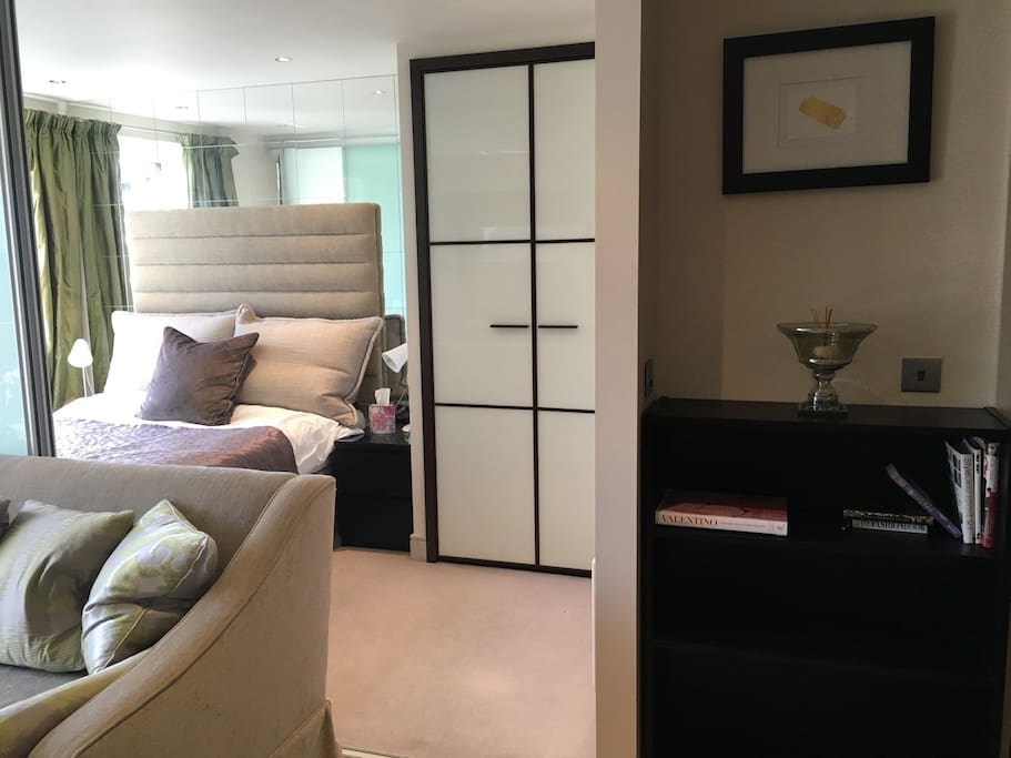 Bedroom - Can be left open or doors slid back to close it off