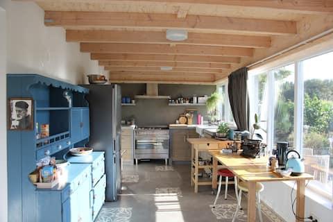 Unique retro designer (90m²)house/loft with a view