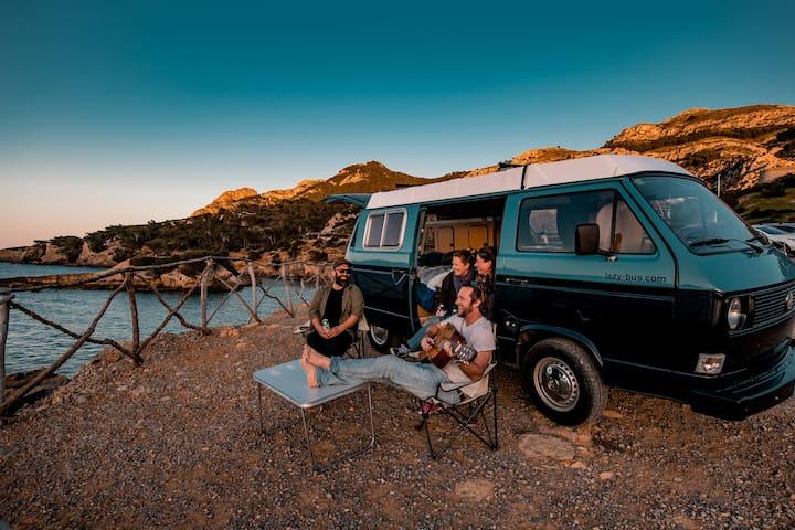 VW T3 Camper Van - Lazy Bus Mallorca - El Abuelo