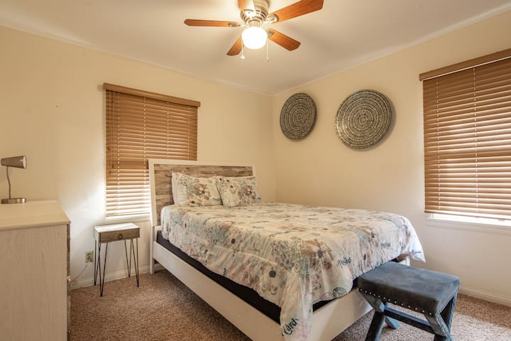Guest Bedroom Upstairs features a Queen Bed