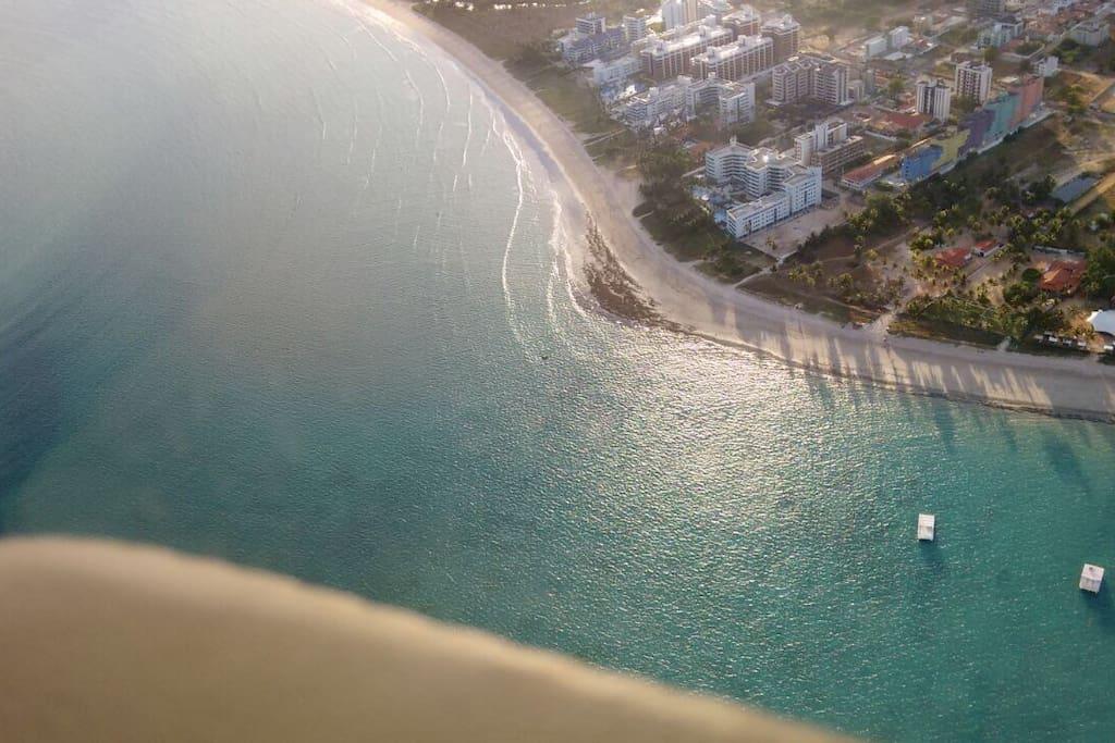 Vista aerea da Praia