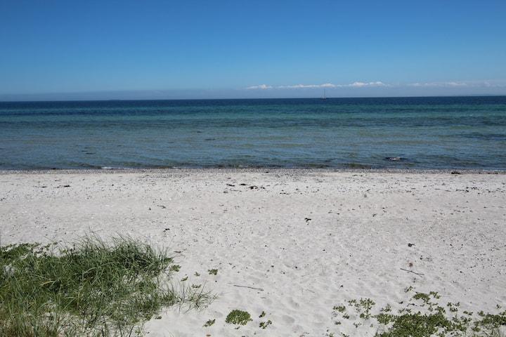 Strandhytten (10 meter egen stranden)