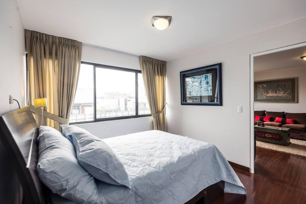 Dormitorio para descansar, con espectacular vista.