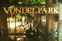 Vondelpark at a stone's throw away from the front door
