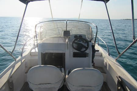 Motorboat Yamaha 150hp (with a cabin) - Novalja - Barco