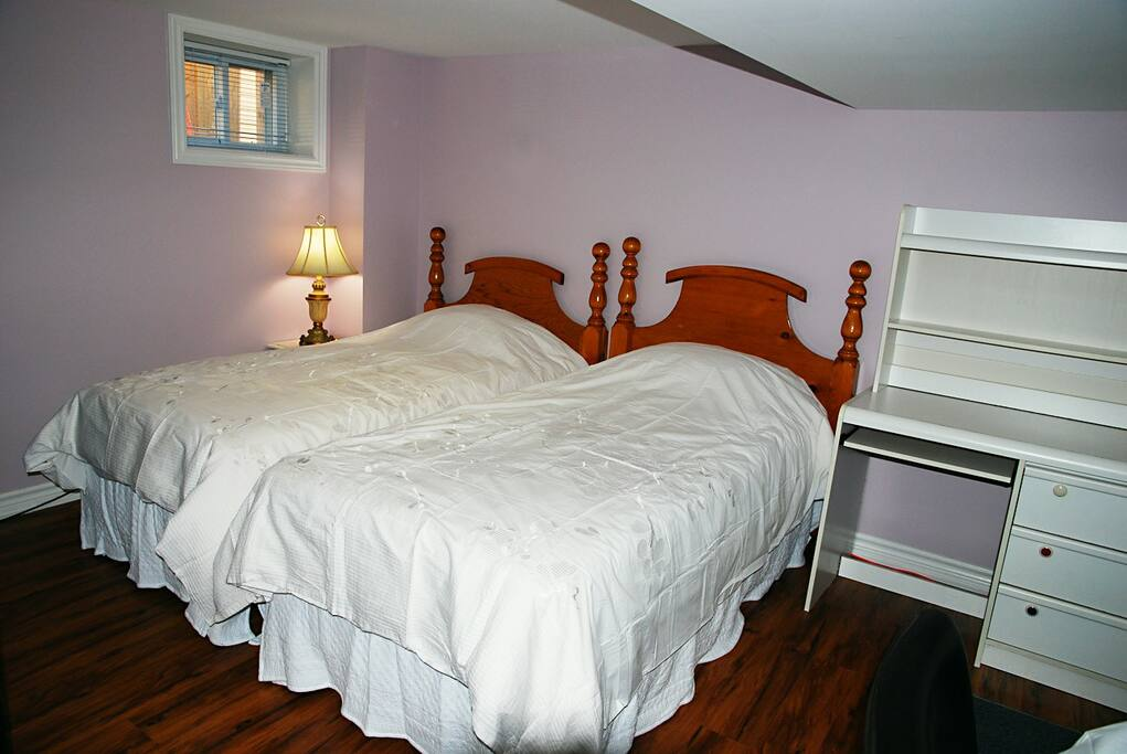 separate 2 twin size beds