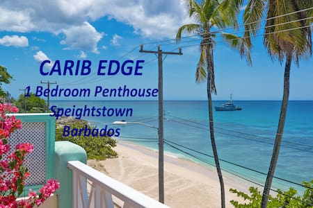Carib Edge AC beachfront penthouse, near amenities