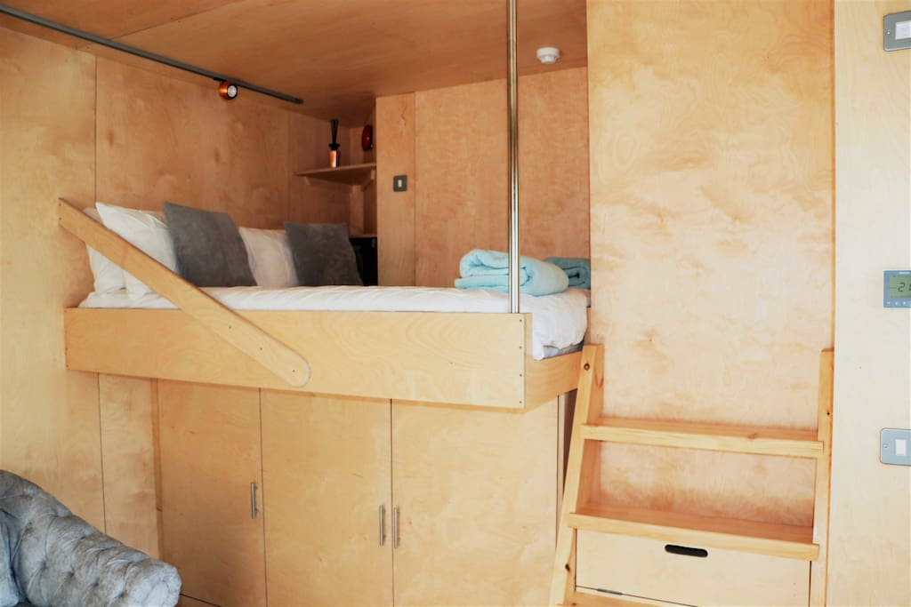 Raised Double Cabin Style Bed with plenty of storage space underneath