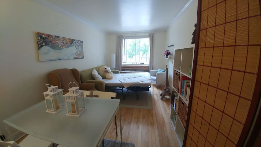Cozy living & private room in downtown Montreal
