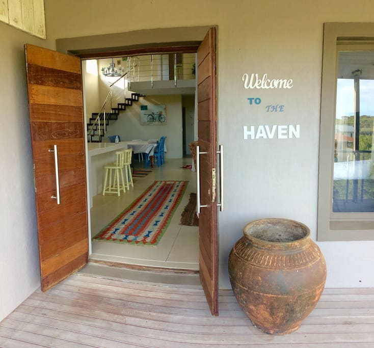 Front entrance welcoming the weary traveler.
