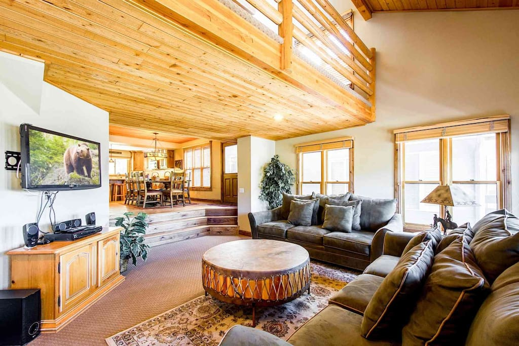 This ideal Park City ski chalet, backs right onto the ski resort, now known as Park City and formerly known as Park City Mountain Resort.