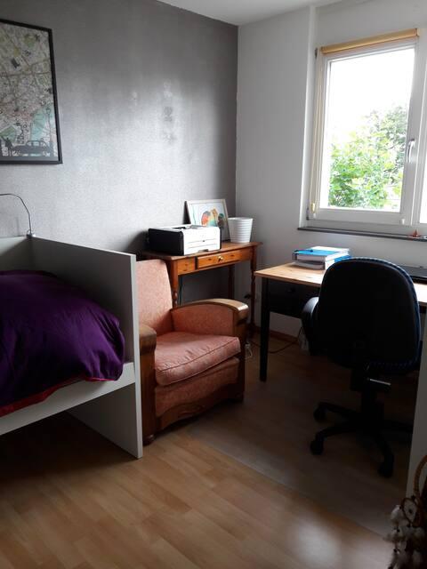 Rustige plek voor 1 persoon, aan de rand van Breda