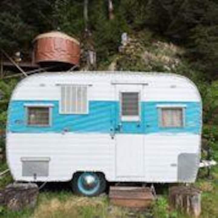 Cozy Vintage Camper with free Breakfast!