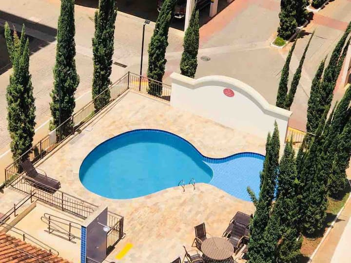 Apartamento com piscina em Olímpia