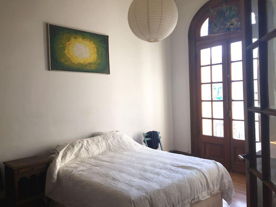 Big bedroom with your own balcony door