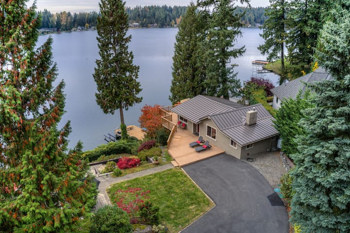 Waterfront Home & Guest Hm*Clear Lake*Mt Rainier