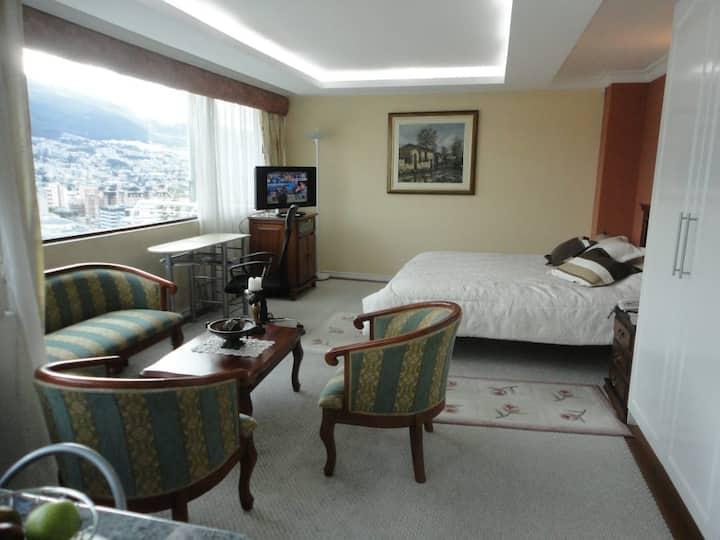 Suite con espectacular vista de la ciudad de Quito