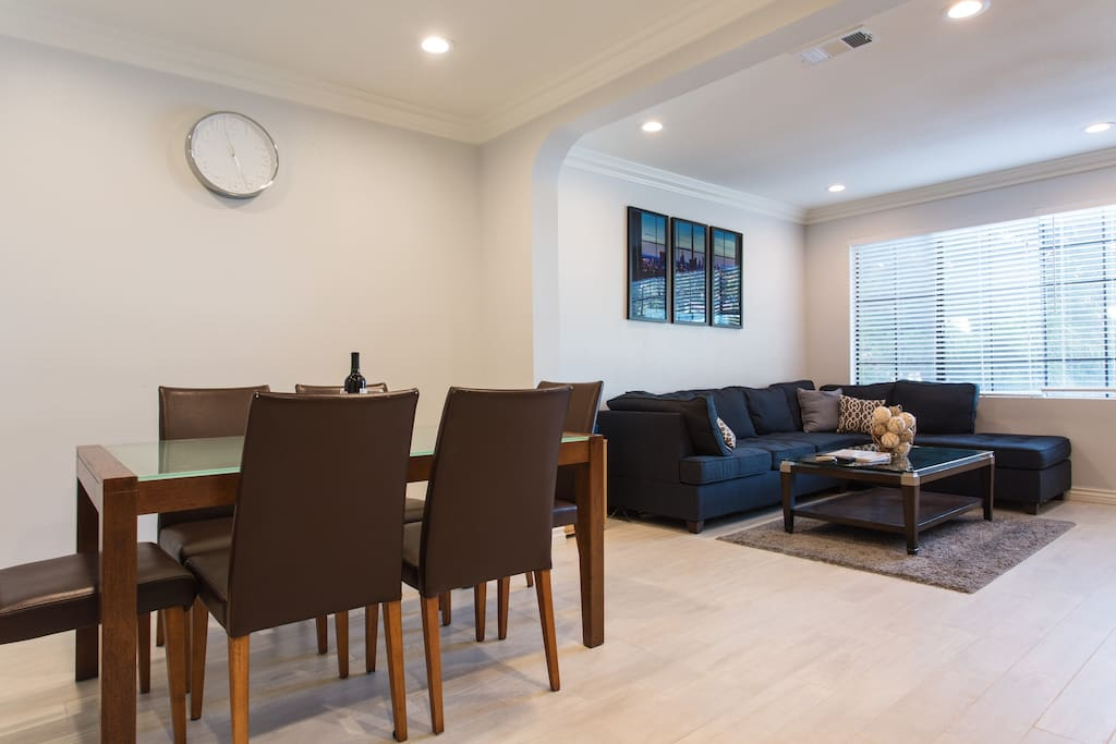 Living room and dining area to enjoy your cooked or take out meals