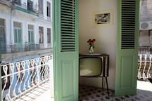 Balconies of the Dining room of Ca'Sita B&B. Perfect for street watching in the morning and evening