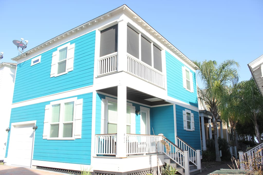 Blue Seas is a twostory home that if fully furnishedand professionally decorated.