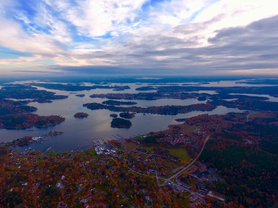 Autumn view of our archipelago - taken from Resarö island
