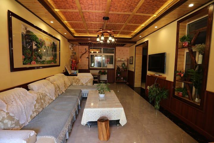 西安咸阳机场复式独栋度假别墅(每日消毒)(24小时免费接送机)