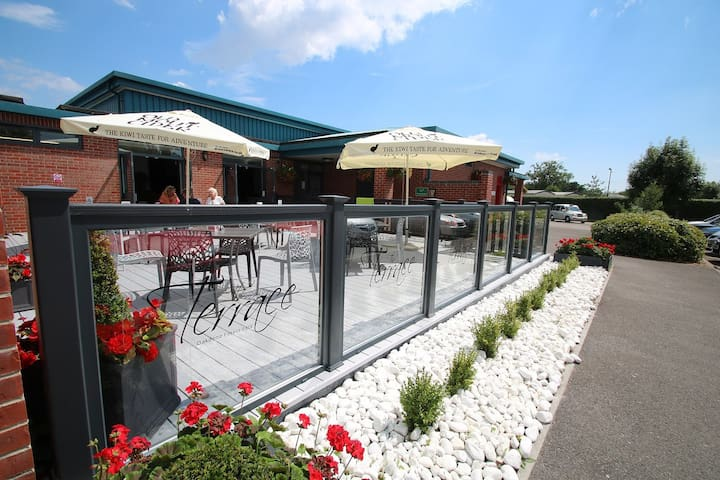 The Terrace bar captures the sun perfectly and is situated near the play park