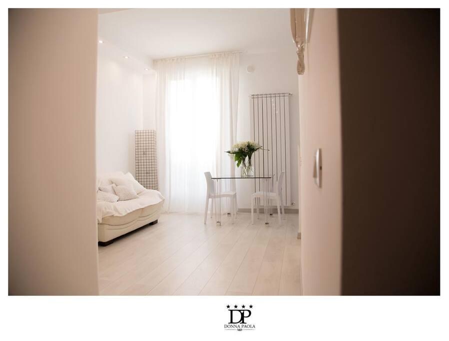 B b donna paola suite smeraldo con doppia camera for Planimetrie della camera da letto della suite matrimoniale