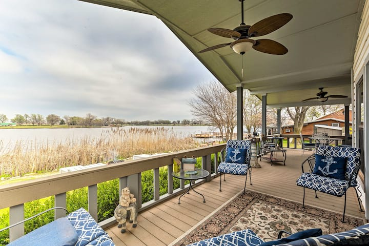 NEW! Serene Lakefront Getaway w/ Fire Pit & Grill