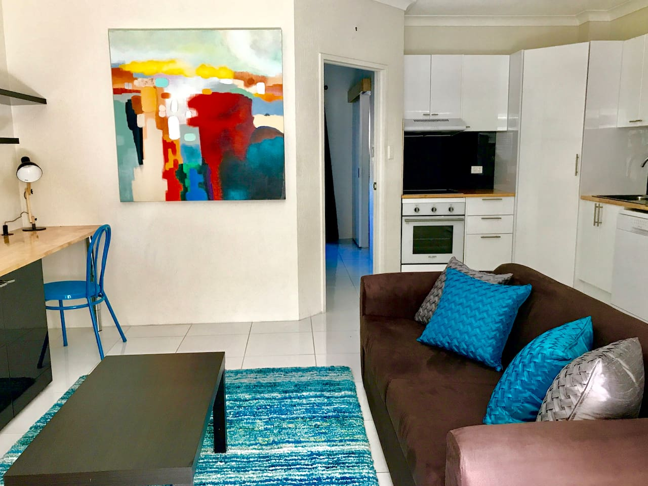 Bright and colourful, this ultra modern apartment has brand new furnishings to go with the new renovations.