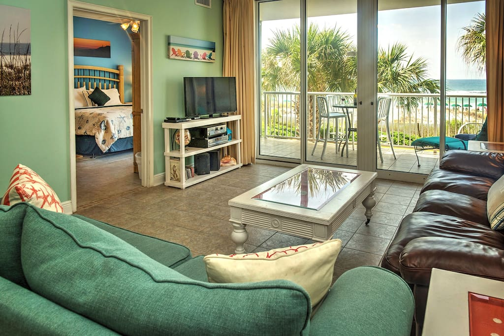 The Living Area Opens To A Private Balcony & Incredible Direct Ocean Views!