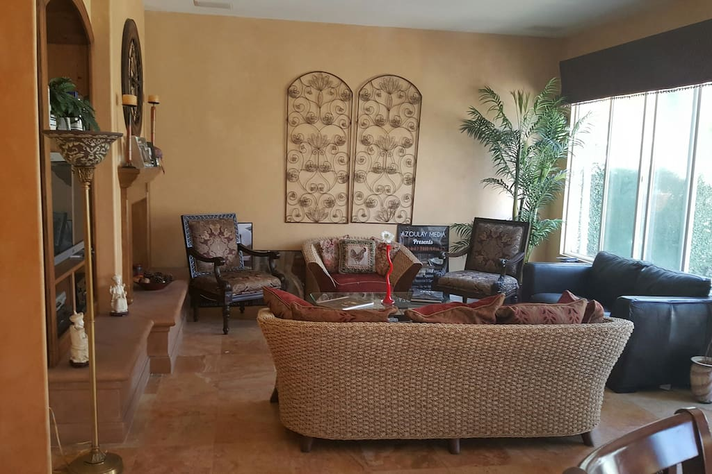 Enjoy the Great Room with Fireplace Million Dollar Plus Homes  and Yachts in this quiet Harbor neighborhood