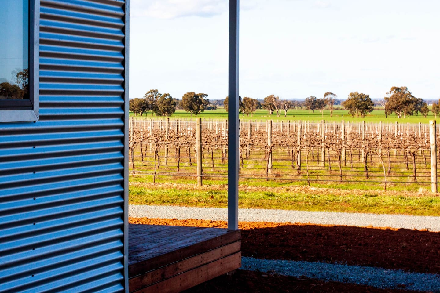 Side of unit with view of vines