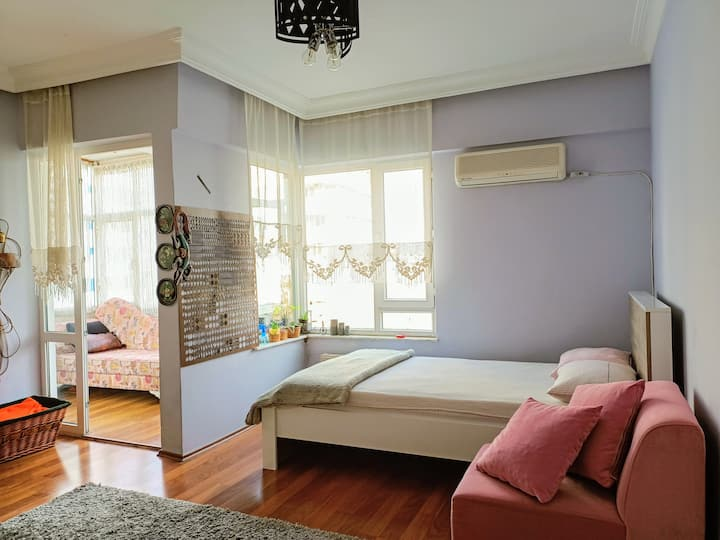 Room with balcony in city center, great location
