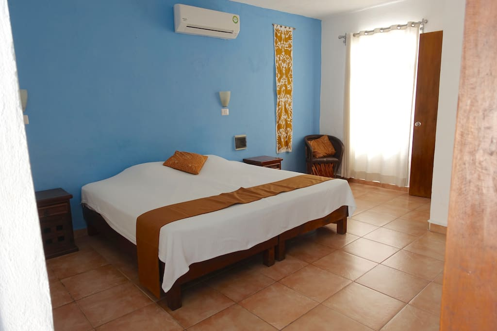 Large bed with AC
