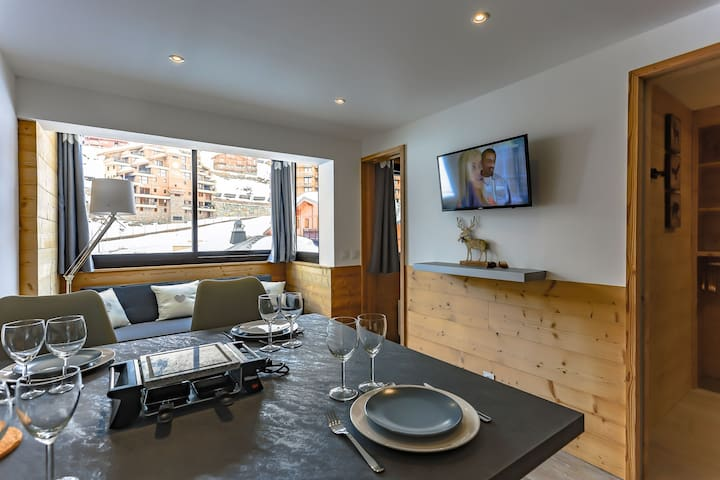 Vanoise Val Thorens 4 persons 26 m2 ski in ski out
