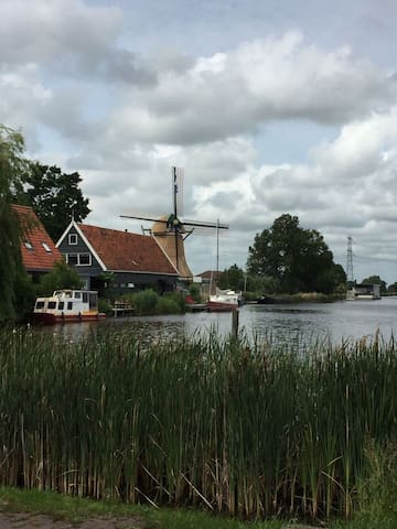 House at the water,  near Amsterdam