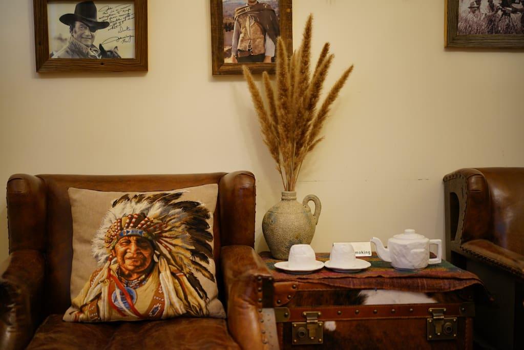 复古美式头层皮沙发