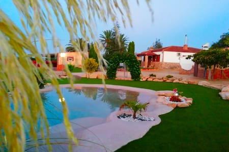 Casa Rural Las Palmeras Preciosa con piscina