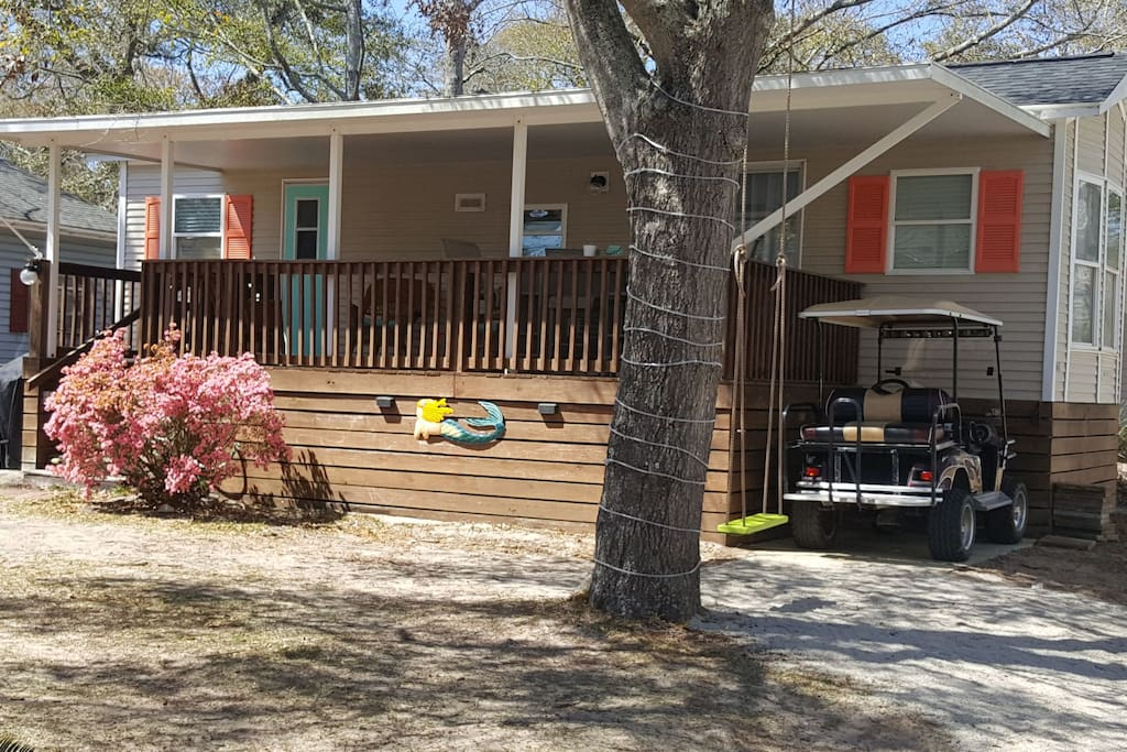 Charming ocean lakes cottage with golf cart cottages for - Golf cart rentals garden city sc ...