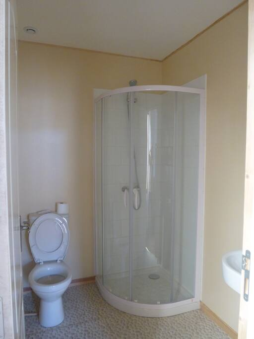 ensuite shower wc and basin