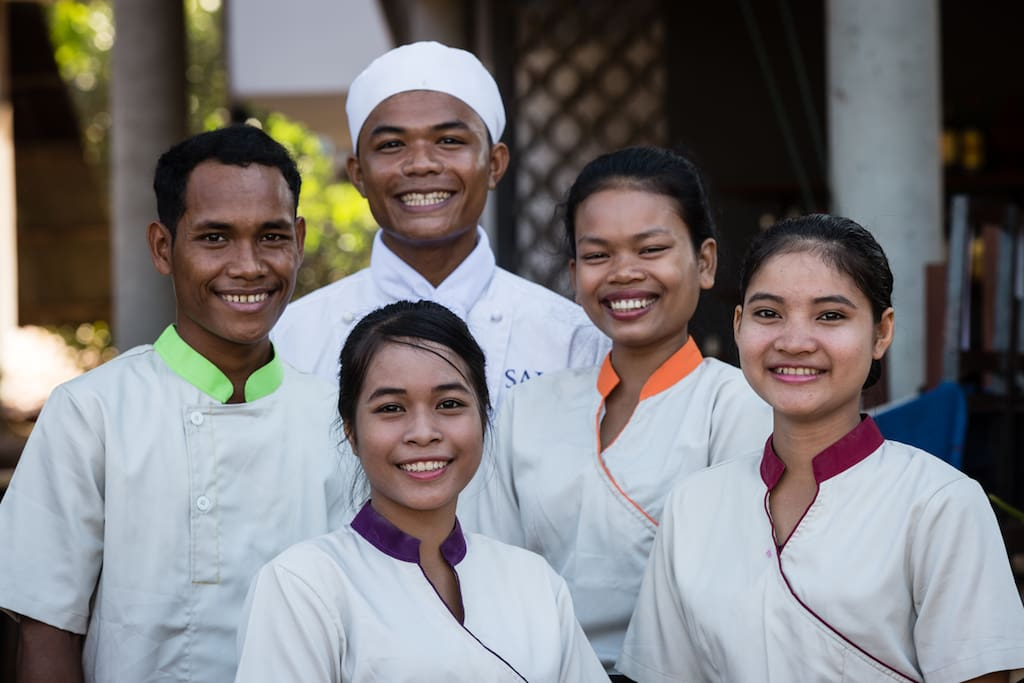 Sala Baï school offers 5 different subjects: Restaurant, Cooking, Front Office, Housekeeping and Beauty Therapy since 2015.
