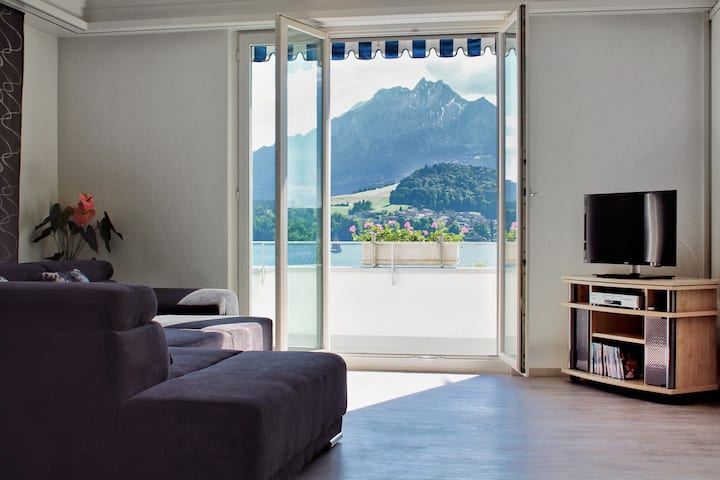 Appartement mit Berg & Seesicht in Luzern