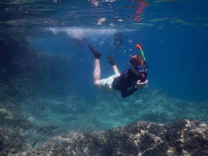 Taking underwater photos :)