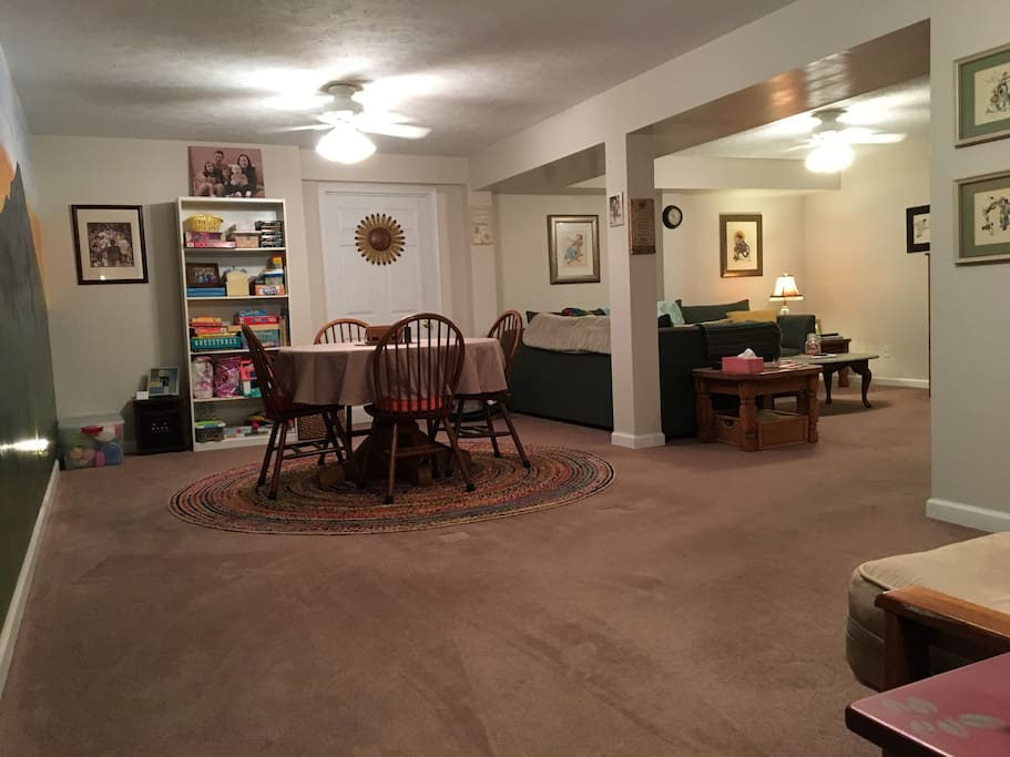 Step out of the bedroom into the spacious den (common area).